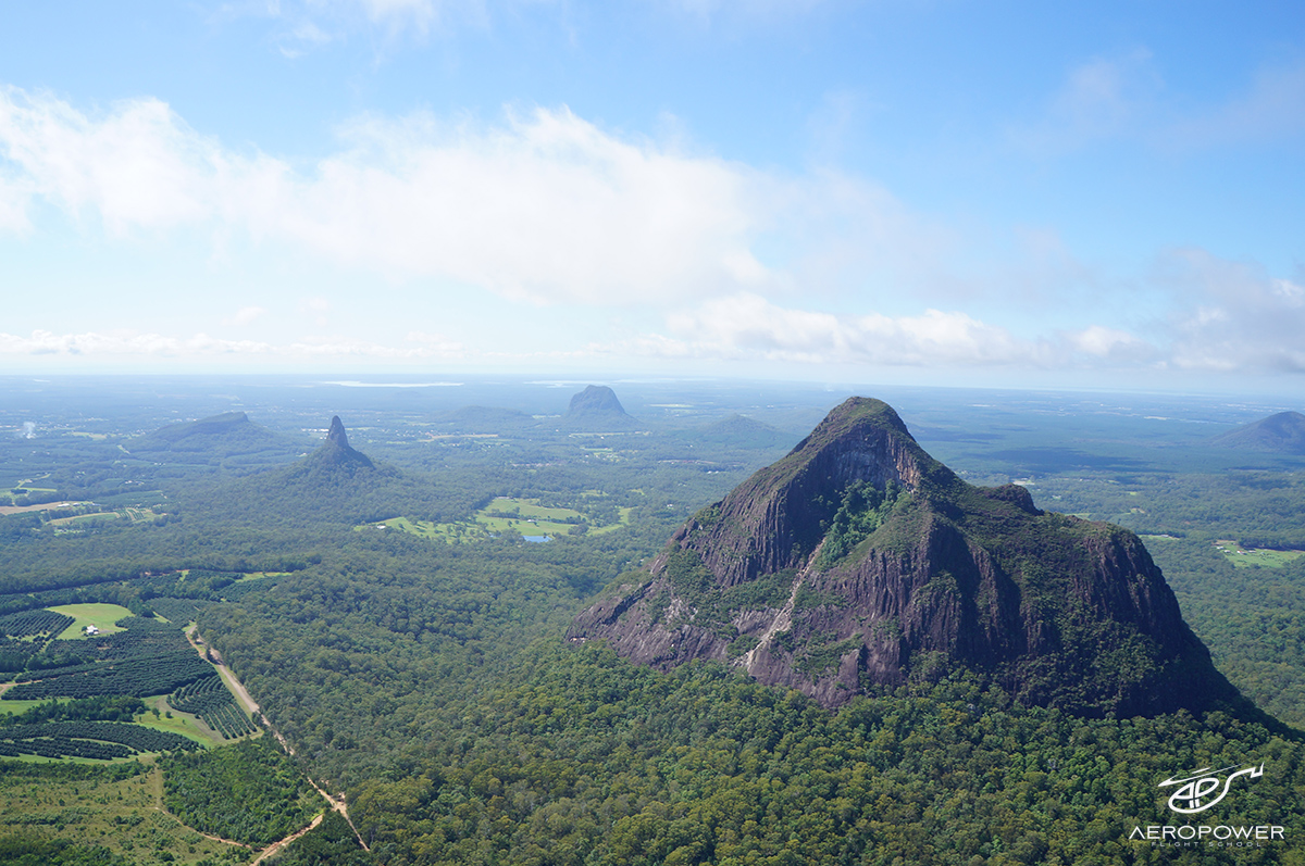 Glasshouse Mountains Scenic - Brisbane Helicopter Experience